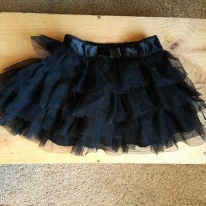Toddler Black Tulle Skirt